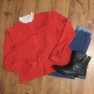 Vintage Red Blouse